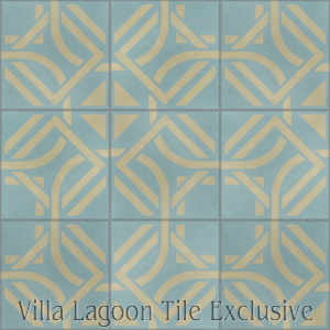 """Portals Stone Blue"" Cement Tile, from Villa Lagoon Tile."