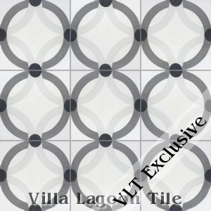 """Rings"" Cement Tile, from Villa Lagoon Tile."