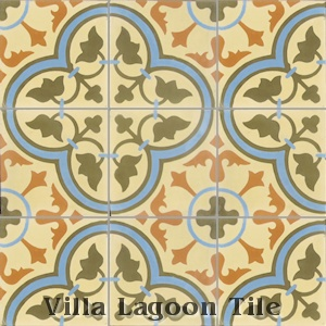 """Tulips Summer"" Cement Tile, from Villa Lagoon Tile."