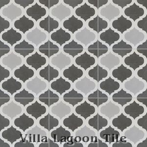 """Lantern Trellis Three"" Cement Tile, from Villa Lagoon Tile."