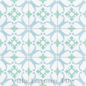 """San Antonio Nassau"" Cement Tile, from Villa Lagoon Tile."
