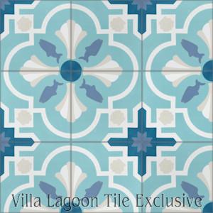 """Savona A Seaside"" Cement Tile, from Villa Lagoon Tile."