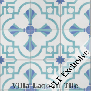 """Savona B Palm Beach"" Cement Tile, from Villa Lagoon Tile."