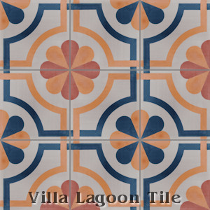 "In Stock ""Sicily"" Cement Tile, from Villa Lagoon Tile."