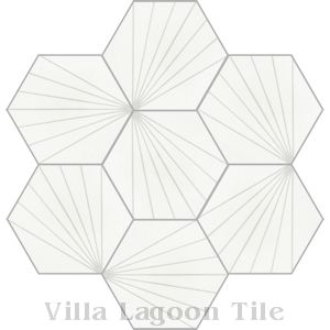"""Spark C Dover"" Hex Cement Tile, from Villa Lagoon Tile."