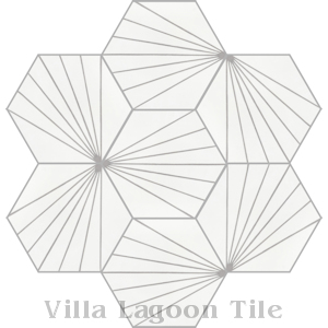 """Spark C Grigio"" Hex Cement Tile, from Villa Lagoon Tile."