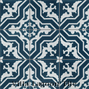 """Talia Deep Inlet"" Cement Tile, from Villa Lagoon Tile"