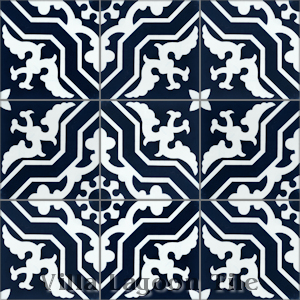 """Talia Navy"" Cement Tile, from Villa Lagoon Tile"