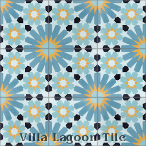 """Tangier Primero"" Cement Tile, from Villa Lagoon Tile."