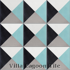 """Tugboat"" 4-Color Cement Tile, from Villa Lagoon Tile."