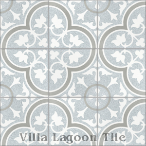 """Tulips B Misty Terrazzo"" Cement Tile, from Villa Lagoon Tile."
