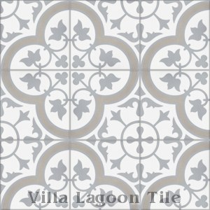 """Tulips B Vintage"" Cement Tile, from Villa Lagoon Tile."