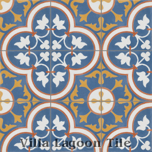"""Tulips Sebring"" Cement Tile, from Villa Lagoon Tile."