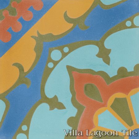 Amalena Sunset cement tile, from Villa Lagoon Tile.