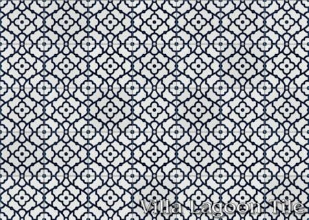 Breeze Blue & White cement tile, in a 7x5 layout, from Villa Lagoon Tile