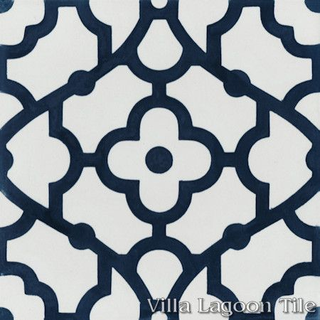breeze blue white cement tile villa lagoon tile