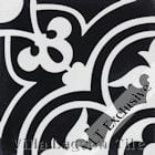 """Circulos B Black and White One"" Cement Tile, from Villa Lagoon Tile"