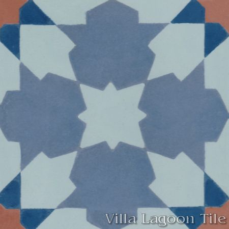 Casablanca Grande cement tile, from Villa Lagoon Tile.