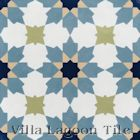 """Casablanca Navy"" Cement Tile from Villa Lagoon Tile"