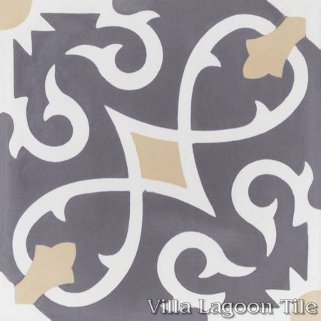 Charlotte Excalibur cement tile, from Villa Lagoon Tile.