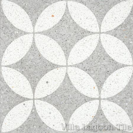 "Circulos B Urban Gray Terrazzo (PS)"" cement tile, from Villa Lagoon Tile."