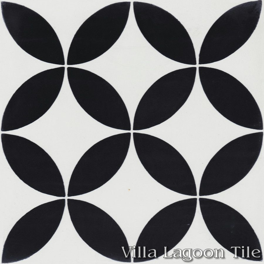 Black And White Tiles Circulos B Black And White Cement Tile Villa Lagoon Tile