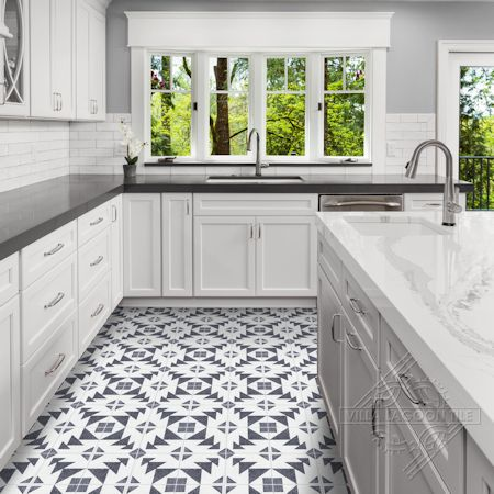 Code Talker B Terrazzo cement tile, from Villa Lagoon Tile.