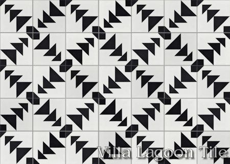 Code Talker cement tile, from Villa Lagoon Tile.