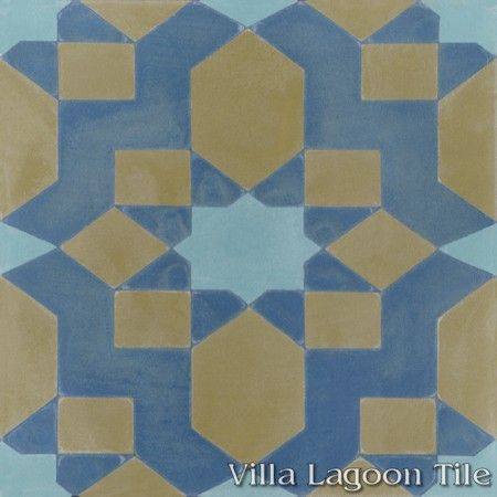 Fez cement tile, from Villa Lagoon Tile.