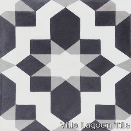 """Fez Sencillo"" cement tile, from Villa Lagoon Tile."