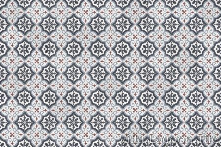 Fiore Winter cement tile, in a 9x6 layout.
