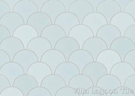 Solid Fishscale Atmosphere cement tile, from Villa Lagoon Tile.
