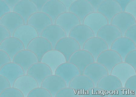 Solid Fishscale Bimini cement tile, from Villa Lagoon Tile.