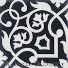 """Gypsy Black & White"" Cement Tile from Villa Lagoon Tile"
