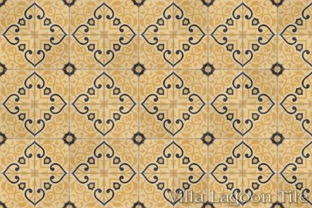 Gypsy Gold cement tile, in a 9x6 layout.