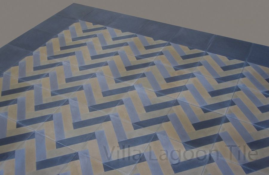 Herringbone Cement Tile Photo