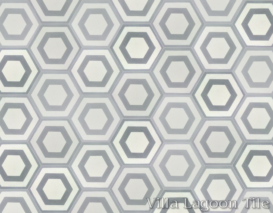 Hex Halo 3 Cement Tile Click For Larger Image
