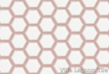 Hex Halo Two A Mauve Hex cement tile, from Villa Lagoon Tile.