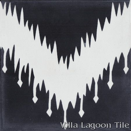 """Ikat A"" Cement Tile, From Villa Lagoon Tile"