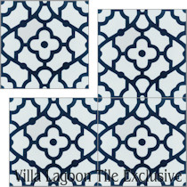 Imperfect Breeze Blue & White Cement Tile