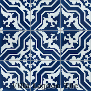 """Talia Deep Inlet6"" Cement Tile, from Villa Lagoon Tile."