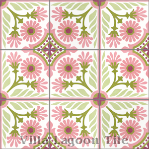 """Mambo6"" Cement Tile, from Villa Lagoon Tile."