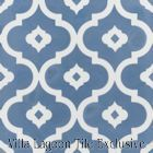 """Kasbah Washed Denim"" Cement Tile from Villa Lagoon Tile"