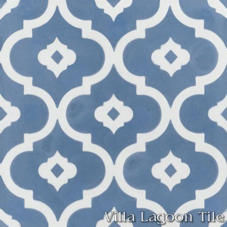 Kasbah Washed Denim cement tile, from Villa Lagoon Tile.