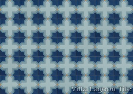 Kismet Grande cement tile, in a 7x5 layout.