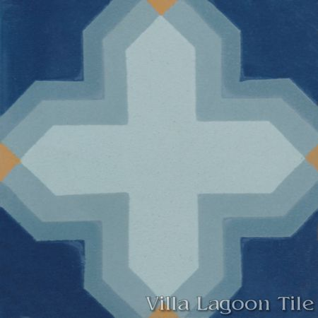 Kismet Grande cement tile, from Villa Lagoon Tile.