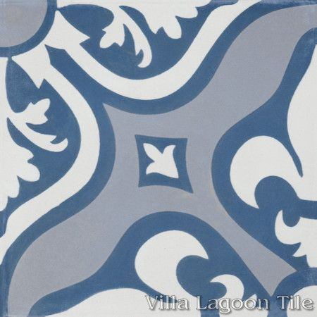 Lancelot Blue Cement Tile, from Villa Lagoon Tile.