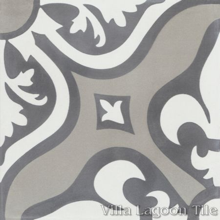 Lancelot Fog Cement Tile, from Villa Lagoon Tile.