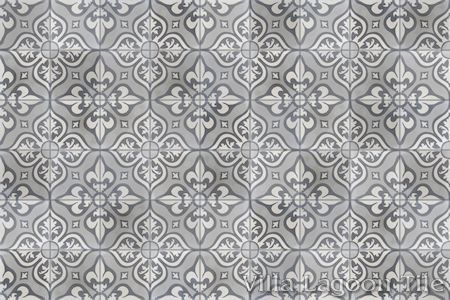 Lancelot Gray cement tile, in a 9x6 layout.