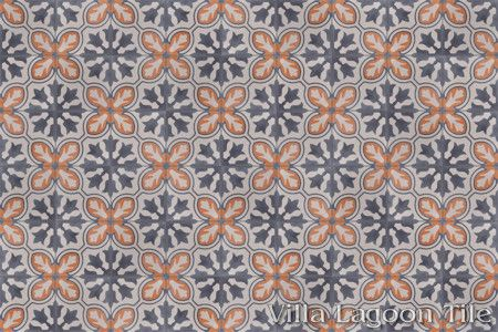 Lisbon cement tile, in a 9x6 layout.